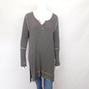 We The Free Striped Long Sleeve Tunic Top M